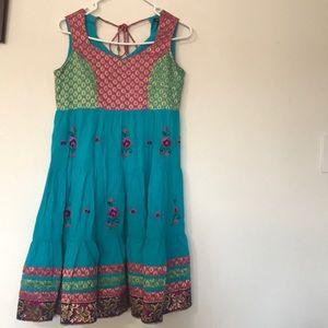 Sleeveless blue dress size medium